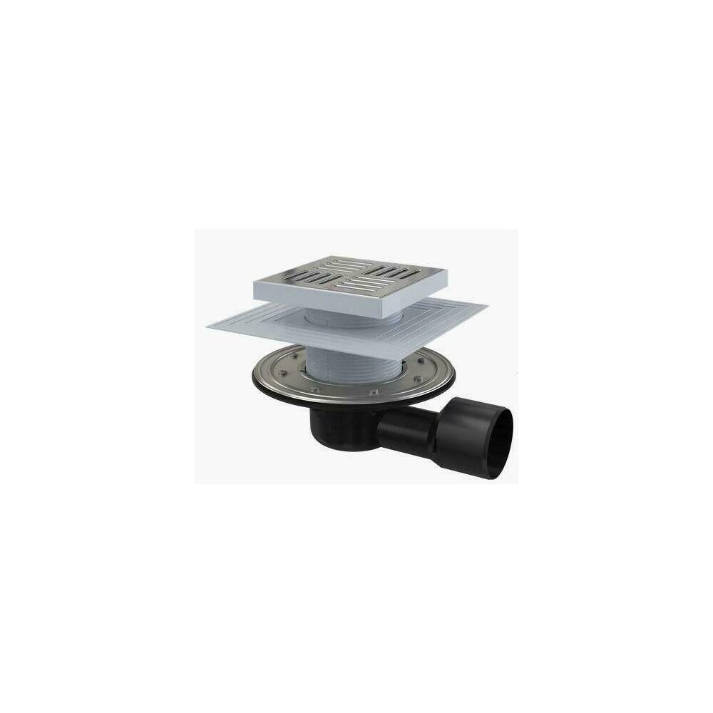 Sifon pardoseala 150 x 150/50/75 cu inaltator, iesire laterala, sistem de retinere a mirosurilor APV3444 Alcaplast poza