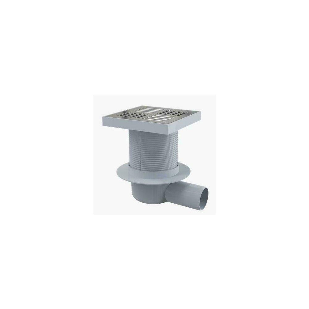 Sifon pardoseala 150 x 150/50 cu iesire laterala si inaltator de inox APV5411 Alcaplast imagine neakaisa.ro