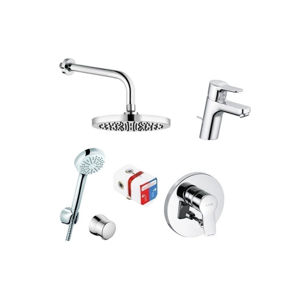 Set Complet Sistem Dus Pure Easy Qa Eco Incastrat Baterie Lavoar Imagine