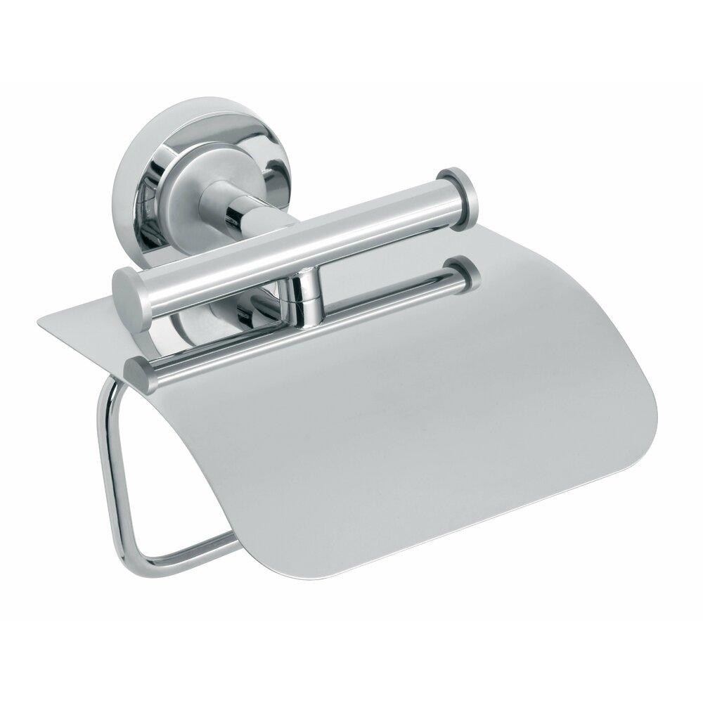 Suport hartie igienica cu protectie crom/satinat Ferro Torrente