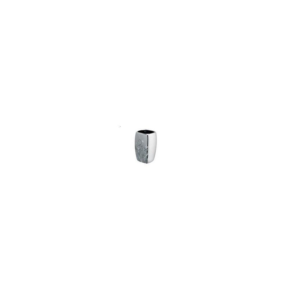 Suport periute de dinti cu pahar gri Bisk Bloom( 496109)