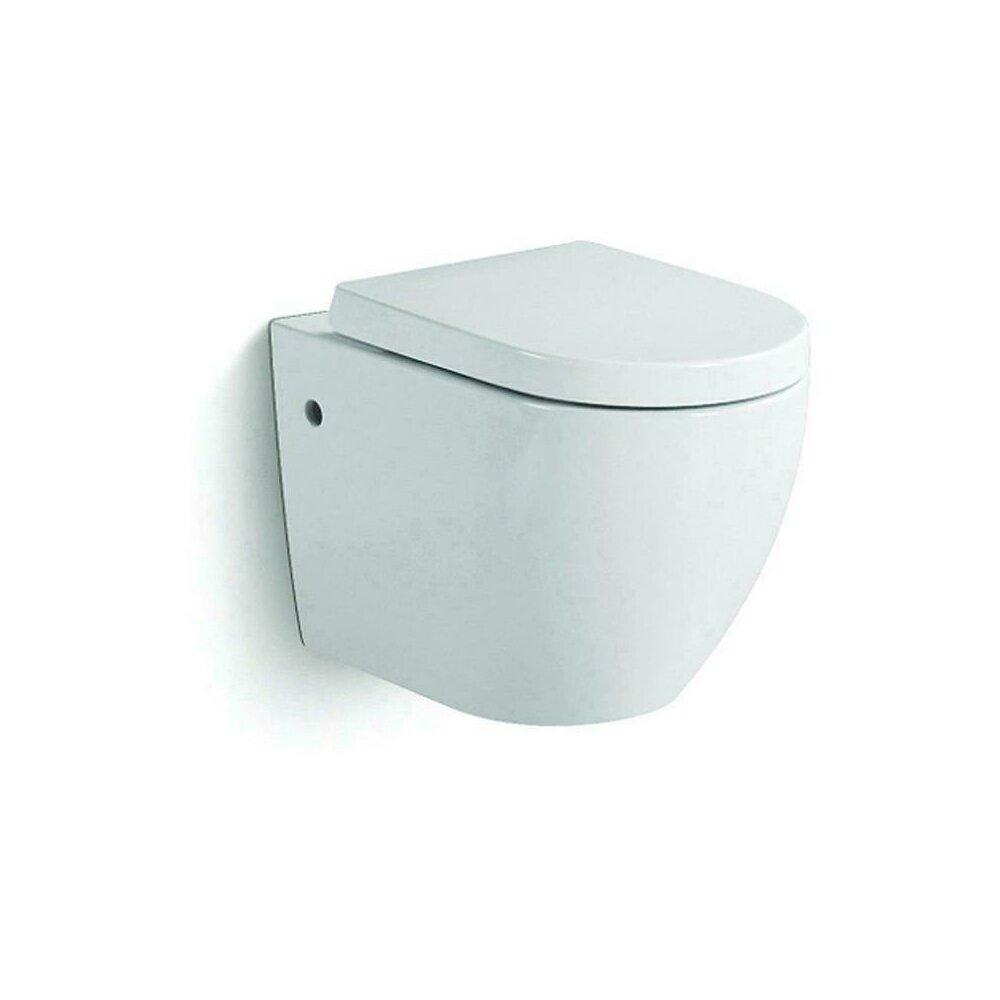 Vas de toaleta suspendat Dalet Rondo si capac soft close 55 cm imagine