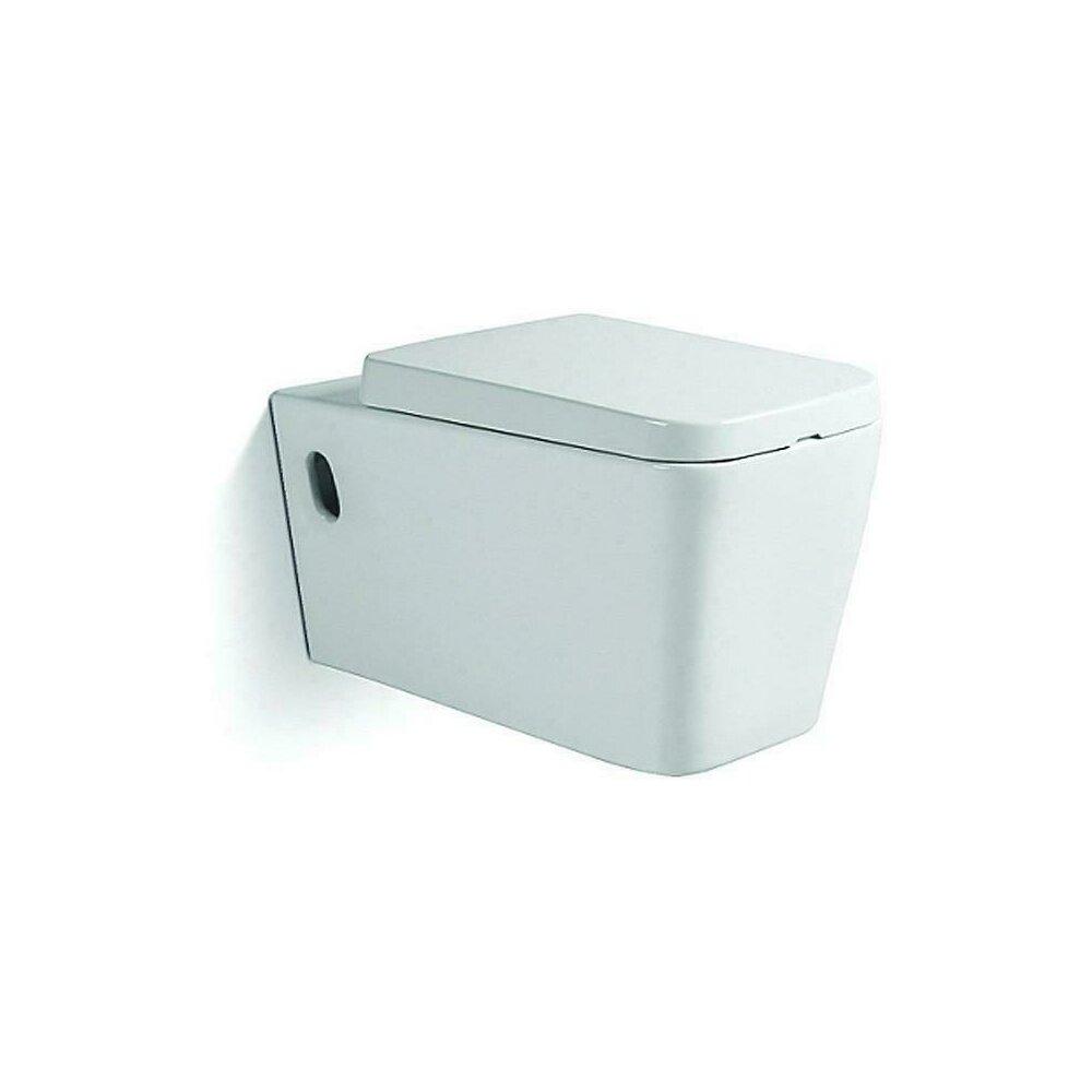 Vas Toaleta Suspendat Square Capac Soft Close Imagine