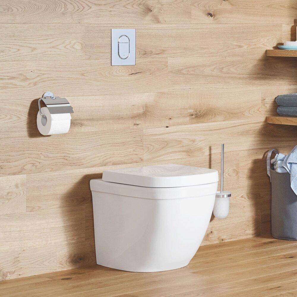 Vas toaleta pe pardoseala Grohe Euro Ceramic Rimless Triple Vortex pentru rezervor incastrat imagine