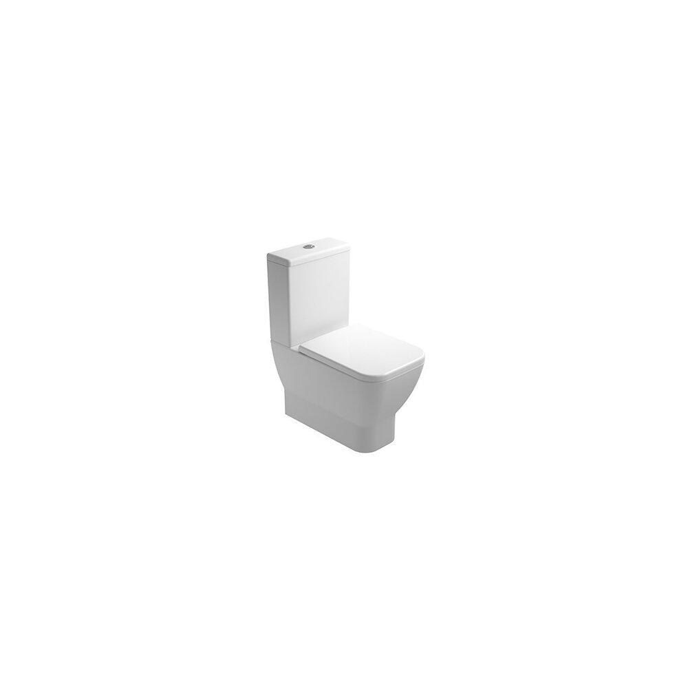 Vas wc pe pardoseala compact Gala Emma Square Rimless BTW pentru rezervor asezat imagine