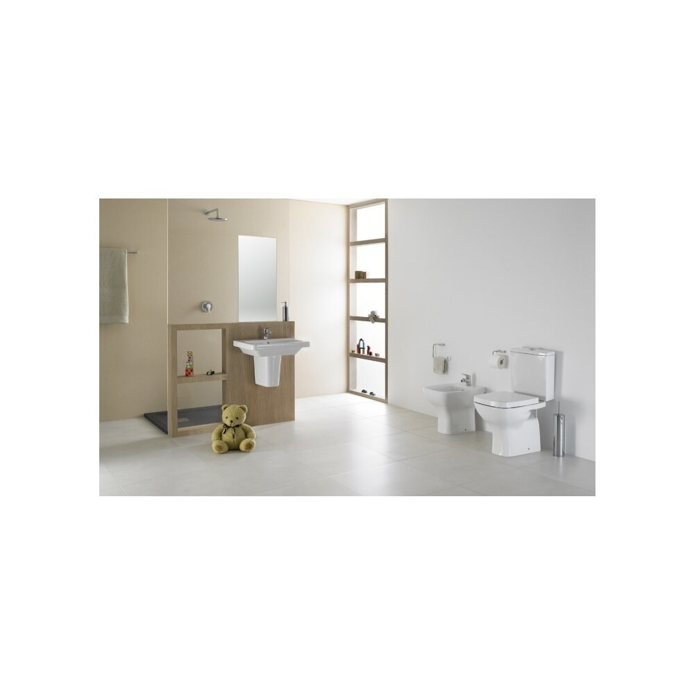 Vas wc pe pardoseala pentru rezervor asezat Gala Street Square Dual imagine