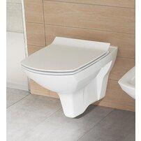 Vas wc suspendat Cersanit Carina New Clean On cu capac slim inchidere lenta