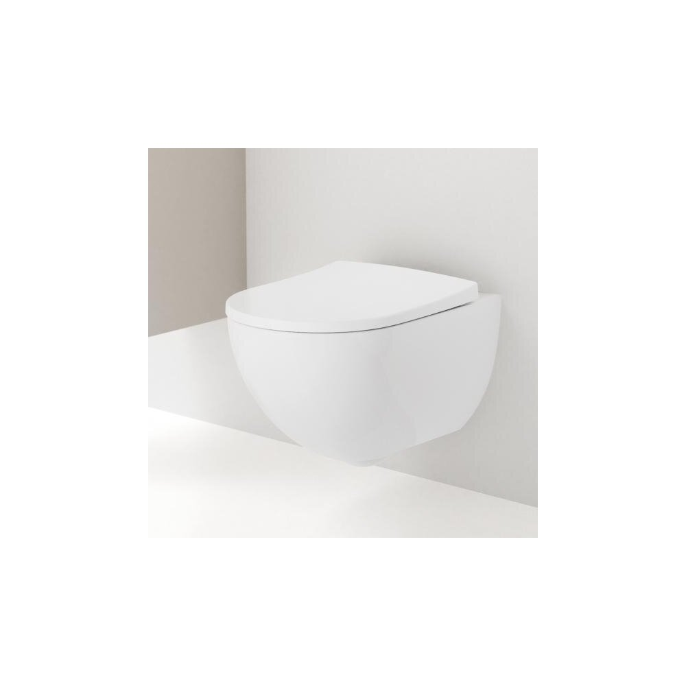 Vas wc suspendat Geberit Acanto Rimfree cu capac inchidere lenta imagine