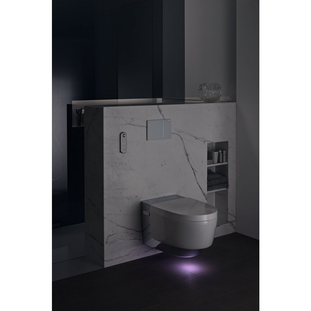 Vas Wc Suspendat Aquaclean Mera Comfort Capac Inchidere Lenta Bideu Electric Imagine