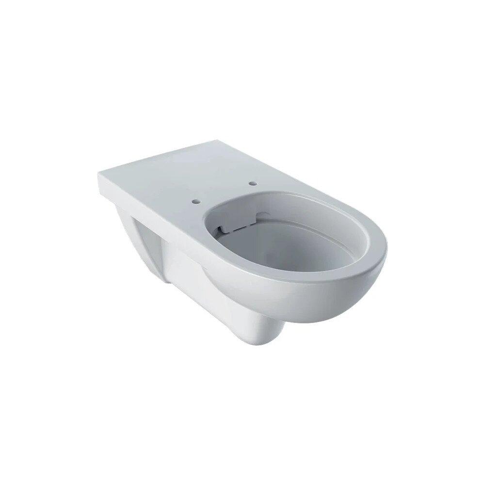 Vas wc suspendat Geberit Selnova Comfort Rimfree proiectie alungita fara capac alb
