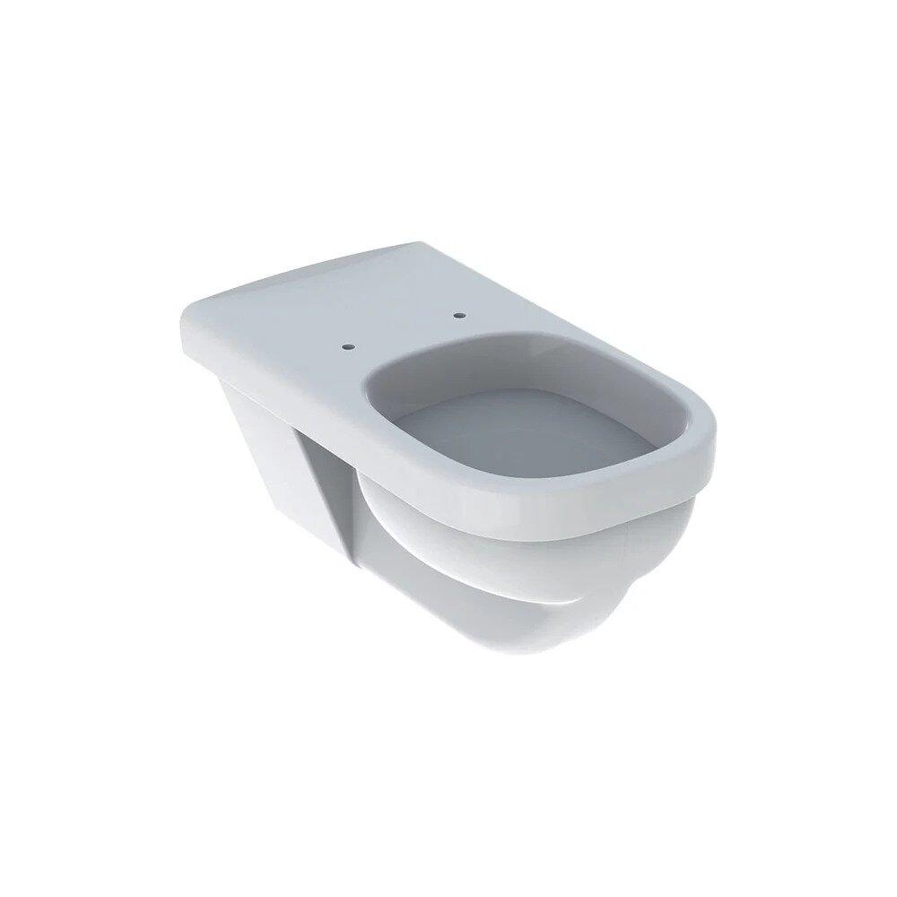 Vas wc suspendat Geberit Selnova Comfort Square cu spalare orizontala fara capac alb