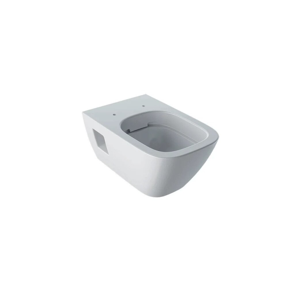 Vas wc suspendat Geberit Selnova Square Rimfree cu spalare verticala