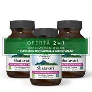 2+1 Cura 45 zile Echilibru Hormonal: ORGANIC INDIA Shatavari - Echilibru hormonal & menopauza 60 caps veg