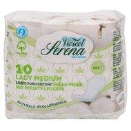 Absorbante MEDIUM din bumbac organic, pentru incontinenta urinara, 10 buc - VIVICOT Serena Lady