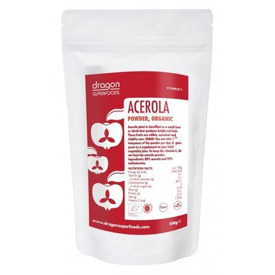 Acerola pulbere raw bio 75g DS