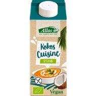 Allos - Crema de cocos lichida pentru gatit FARA GLUTEN si LACTOZA, bio, 200 ml