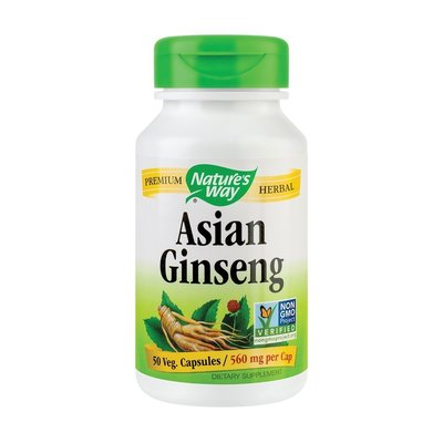 Asian Ginseng 560mg - Nature's Way, 50cps
