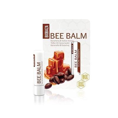 Balsam de buze natural Toffee & Cocoa butter - BIOBAZA, 20gr