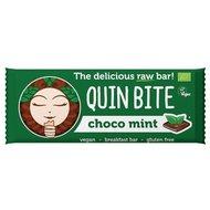 Baton cu ciocolata si menta raw bio 30g Quin Bite PROMO