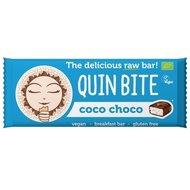 Baton cu cocos si ciocolata raw bio 30g Quin Bite PROMO