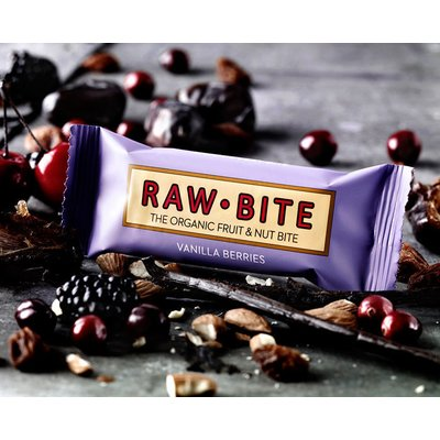 Baton cu fructe de padure si vanilie raw bio 50g RAW Bite