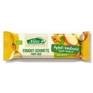 Baton de fructe cu mere si nuci bio 30g Allos