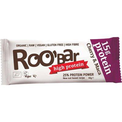 Baton proteic cu cirese si maca raw bio 60g Roobar