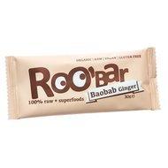 Baton raw bio cu baobab si ghimbir 30g PROMO