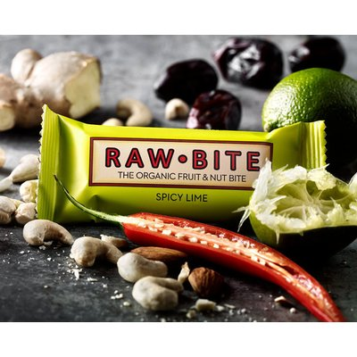 Baton spicy lime raw bio 50g RAW Bite