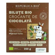 Bilute Bio crocante de ciocolata FARA GLUTEN Republica BIO, bio, 250 g