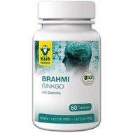 Brahmi si ginkgo + chlorella bio 550mg, 60 capsule vegane RAAB