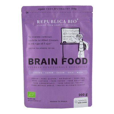 Brain Food, pulbere functionala ecologica Republica BIO, 200g