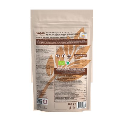 Cacao pudra organica raw 200g DS
