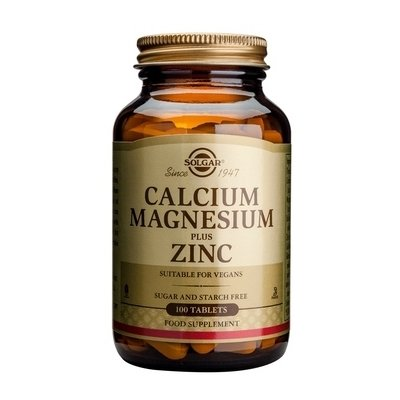 Calciu, Magneziu + Zinc 100tb SOLGAR