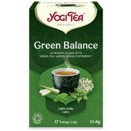 Ceai echilibru verde, bio, 17 pliculete, 30,6g, YogiTea