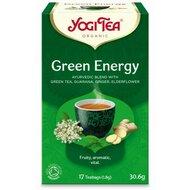 Ceai energie verde, bio, 17 pliculete, 30,6g, YogiTea