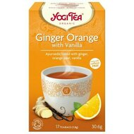 Ceai ghimbir cu portocale si vanilie, bio, 17 pliculete, 30,6g, YogiTea