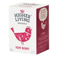 Ceai de fructe VERY BERRY bio, 15 plicuri, Higher Living