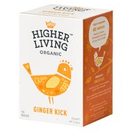 Ceai GINGER KICK bio, 15 plicuri, Higher Living
