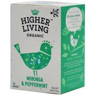 Ceai MORINGA si MENTA bio, 15 plicuri, Higher Living