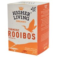 Ceai ROOIBOS si TURMERIC bio, 20 plicuri, Higher Living