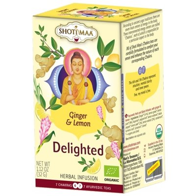Ceai Shotimaa Chakras - Delighted - ghimbir si lamaie bio 16dz