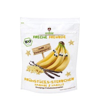 Cereale stelute pt. mic dejun cu banane si vanilie bio 125g Erdbar