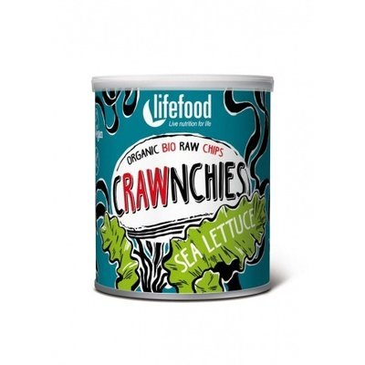Chips Crawnchies cu sea lettuce (alge) raw bio 20g Lifefood