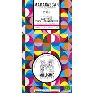 Ciocolata belgiana artizanala cu yuzu si merisoare, Madagascar, eco 70g, Millesime