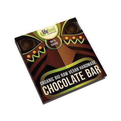 Ciocolata cu 80% cacao raw bio 35g Lifefood