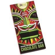 Ciocolata cu cirese si nuci raw bio 70g Lifefood