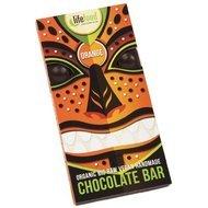 Ciocolata cu portocale raw bio 70g  Lifefood