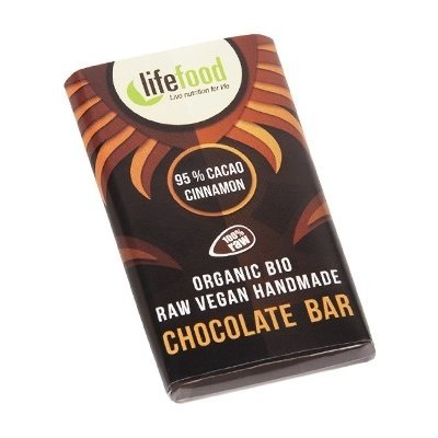 Ciocolata MINI cu 95% cacao si scortisoara raw bio 15g Lifefood