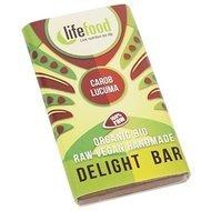 Ciocolata MINI cu lucuma si carob raw bio 15g Lifefood